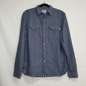 Timberland flannel lined chambray shirt M slim fit